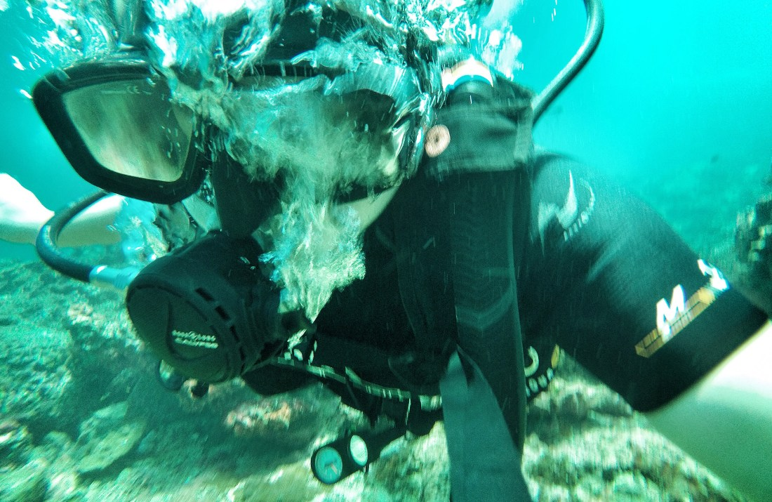 Best picture I took of myself scuba diving in Phi Phi Island