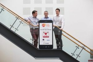 Pictured are Stephen Conmy, The Appys; Aidan Lynch, MD, GSK Ireland; and Owen Cooney, MD, ProductFitter & Eleks Ireland at the launch of the GSK App-challenge 2014. The GSK App-challenge is open to anyone in Ireland who has a great idea, or a prototype, for an app relating to the areas of fitness, health & wellness and/or medicine. A prize worth €50,000 is up for grabs. You can enter at www.theappys.ie.