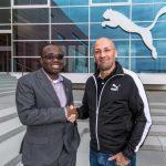 Kwesi Nyantakyi (GFA) with Christian Voigt (PUMA)