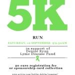 Marlay Park 5k Run in aid of  Denise Ryan Lyme Disease Fund 19th September