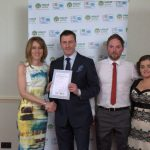 Barry Walsh President of Ireland Active pictured with the Overall Hotel of the year, Zest Health and Fitness, Cavan