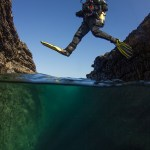 Diver jumping by Ivan Donoghue
