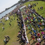 Several Thousand Runners Sprint From A Sunny Dun Laoghaire For The Wings For Life World Run