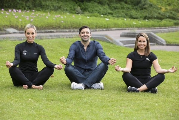 Pictured at the launch of the programme for WellFest2016 were  and Kathryn Thomas, founder of the Pure Results Bootcamp (left), Anthony Kelly, founder of WellFest and Milena Jaksic Byrne from Platinum Pilates.