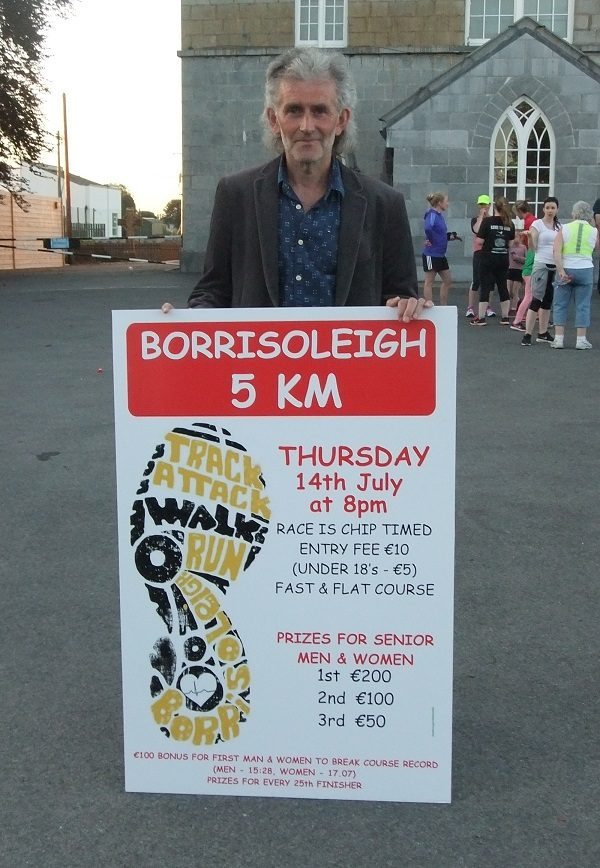Irish athletics legend Jerry Kiernan helping to promote the Borrisoleigh 5km
