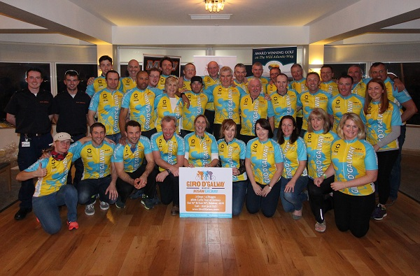 The Giro D'Galway charity cycle took place over last weekend when 35 hardy cyclists rode 380km over two days all to raise vital funds and awareness for youth mental health charity Jigsaw Galway.  The cyclists and crew are pictured at the finish line party at the Galway Bay Golf Resort in Renville in Oranmore