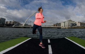 Pictured is Amanda Byram, a member of the Vhi Support Team who announced today that the 2017 Vhi Women's Mini Marathon is now open for entries! Photo ©INPHO/Morgan Treacy