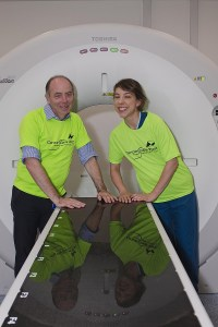Aisling McDonnell and Stephen Coyne, the Radiotherapy Services Manager in UCHG