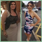 Kirsty Leighton, who lost 5 stone 4lbs (76lbs) using a regimen with The Skinny Caffe. Kirsty began at 16 stone 9lbs, and is now 11 stone 7 lbs