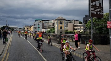 Bike through Galway City on a guided children's cycle tour for World Car Free Day