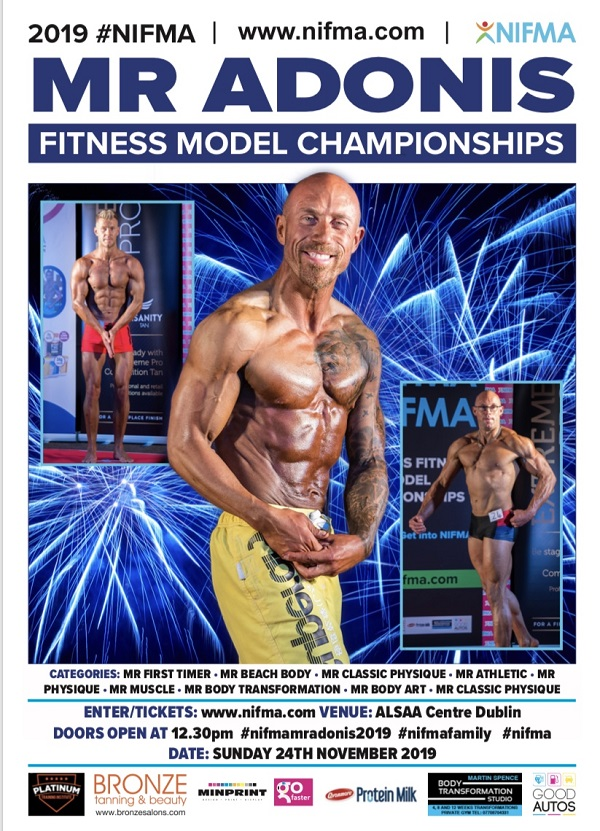 2019 NIFMA Mr Adonis Fitness Model Championships