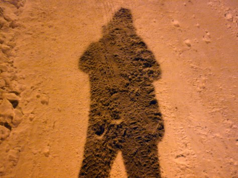 Shadowy Self-Portrait in the Snow