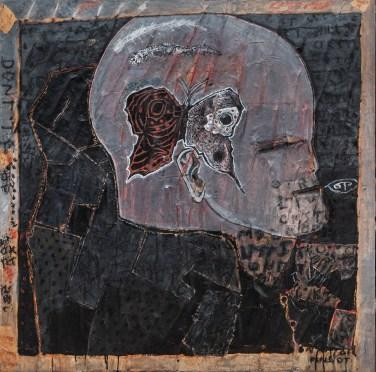 C Douglas,Untitled, Mixed media on canvas