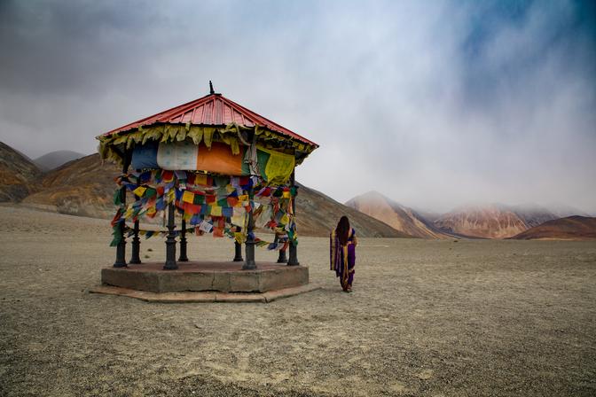 Sari swag in Ladakh