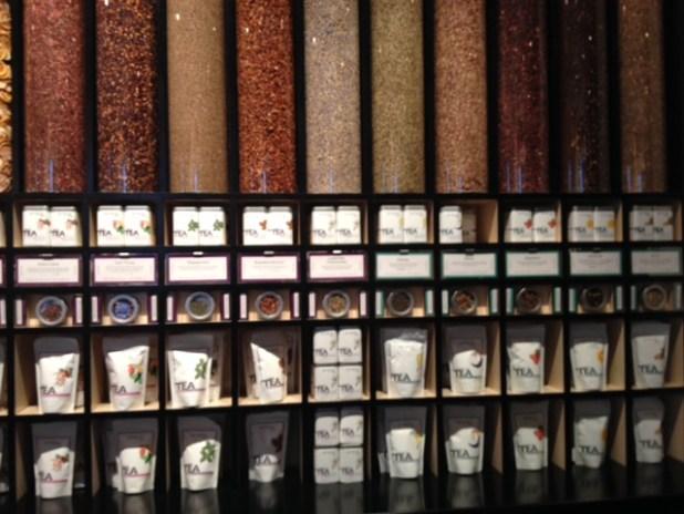 Interactive tea wall