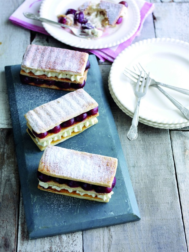 Roasted cherry millefeuille 2