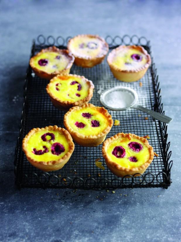 Raspberry Portuguese tarts 1
