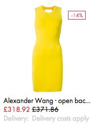 Alexander Wang open back dress