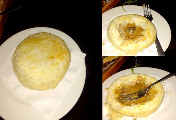snail and mushroom pie