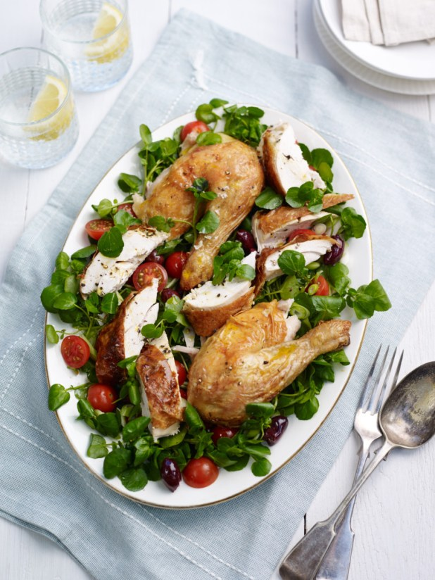 Roast Chicken and watercress salad (2)