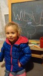 practicing her name and drawing =)