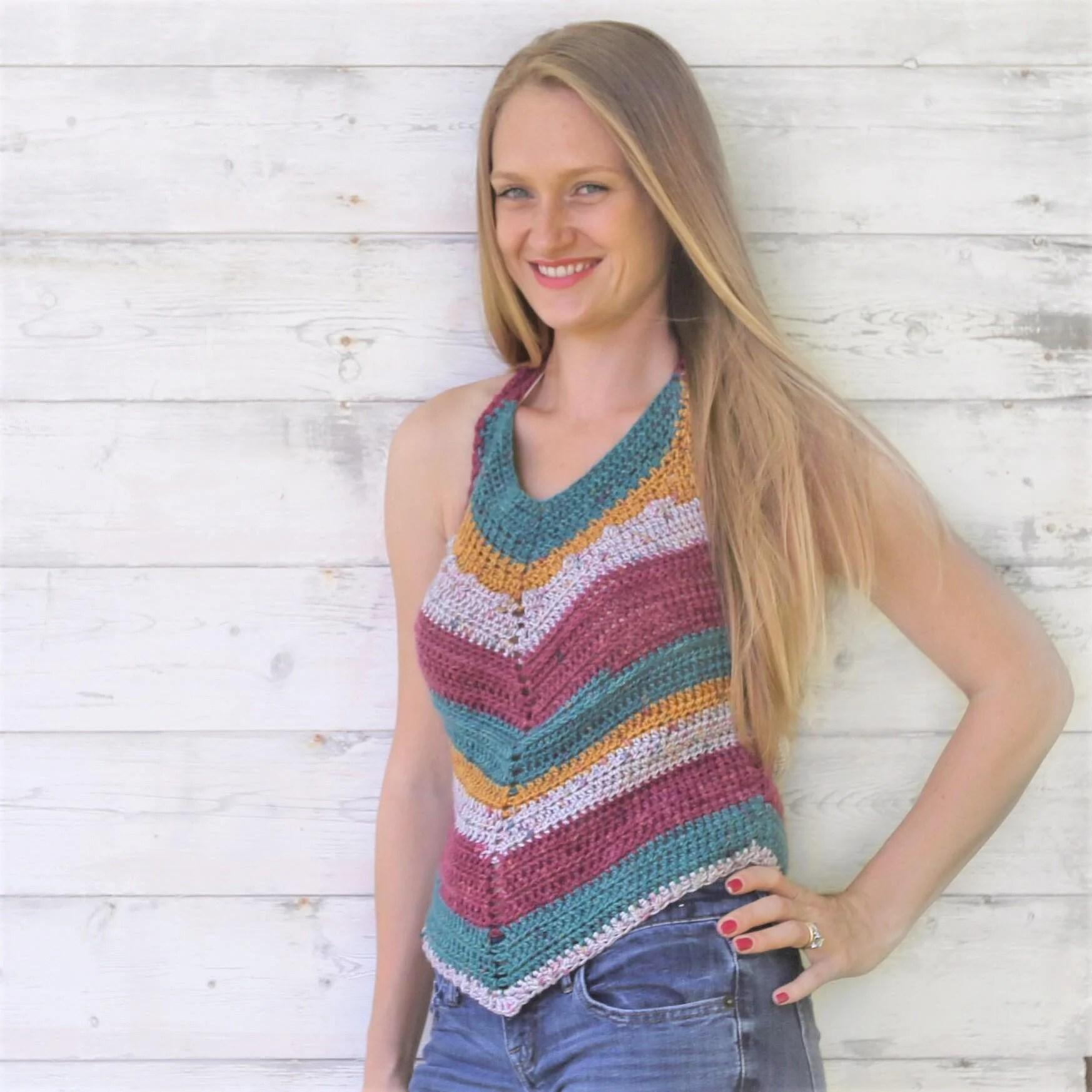 Harper Halter Crochet Pattern by Life and Yarn
