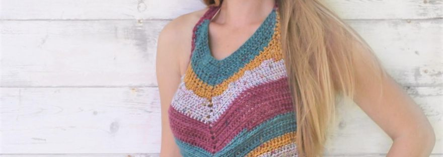 Harper Halter Crochet Pattern by Life and Yarn