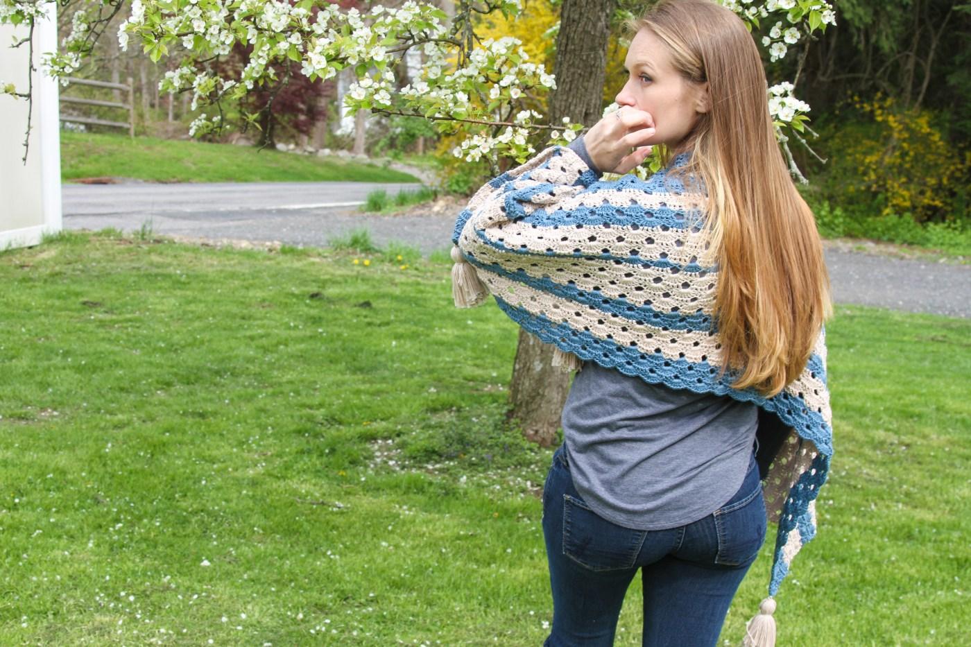 Bondi Shawl Free Crochet Pattern