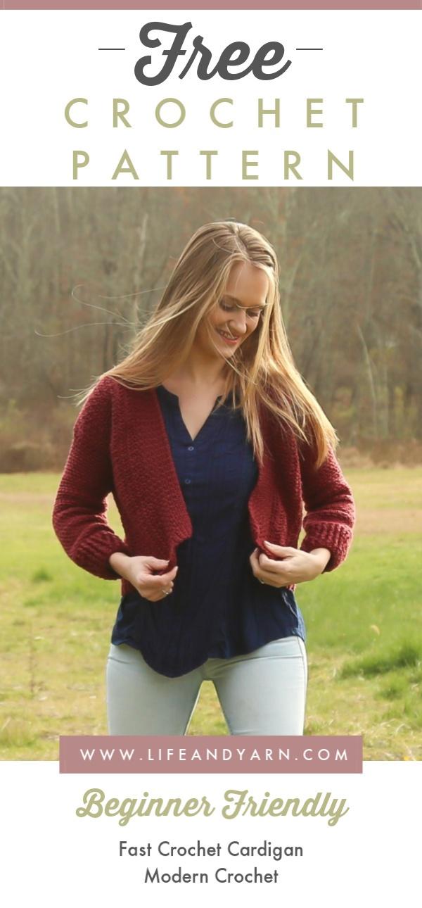 Free Crochet Cardigan Pattern - Ruby