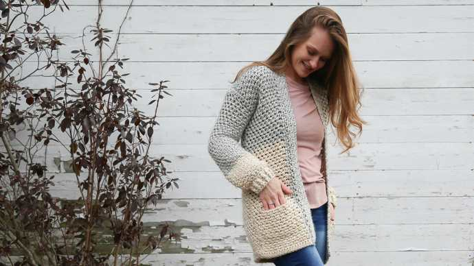 Crochet Cardigan with Pockets