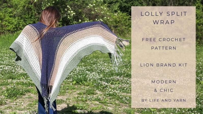 Crochet Split Wrap Ruana