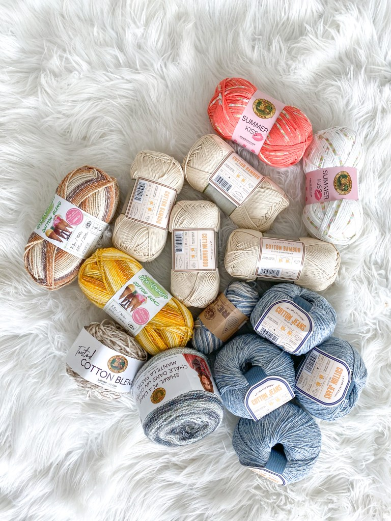 Cotton Blend Fibers from Lion Brand Yarn