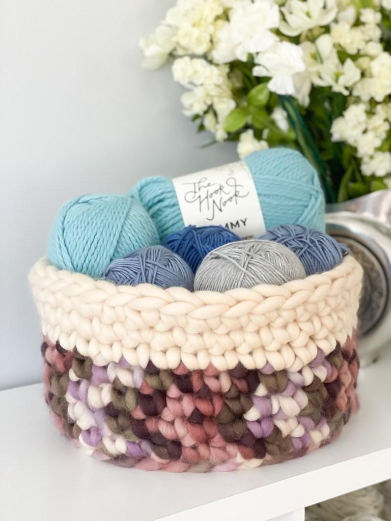 Beginner Crochet Single Crochet Basket Pattern.