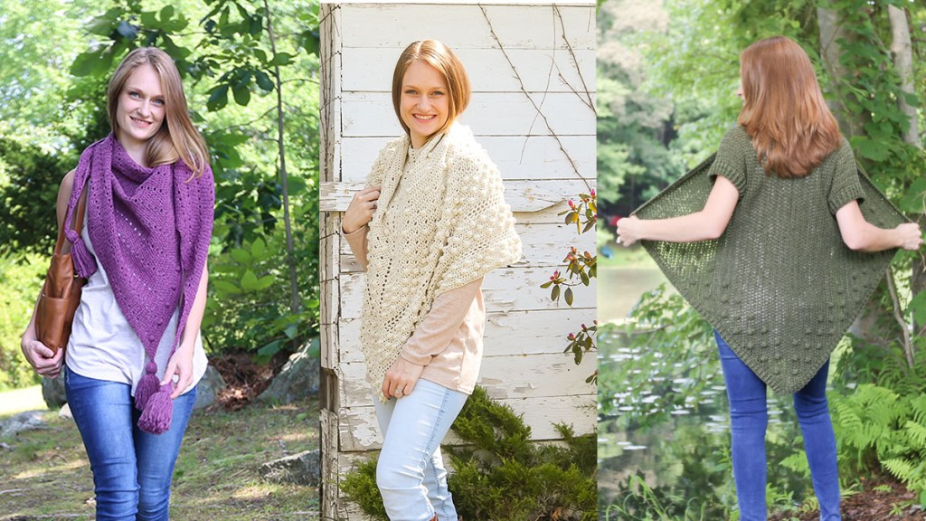 3 Easy Lightweight Crochet Patterns for you to make with Merino Silk Cotton!