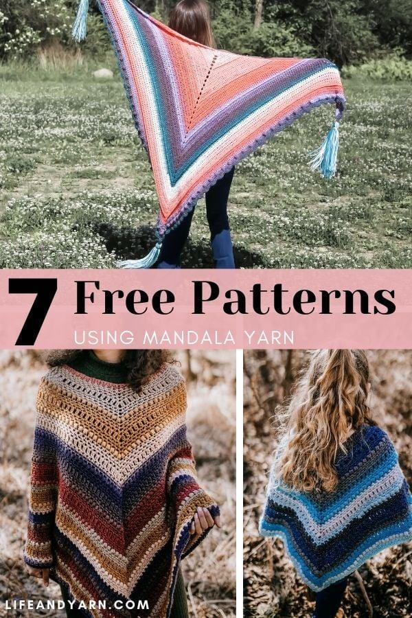 7 Free Patterns Using Mandala Yarn