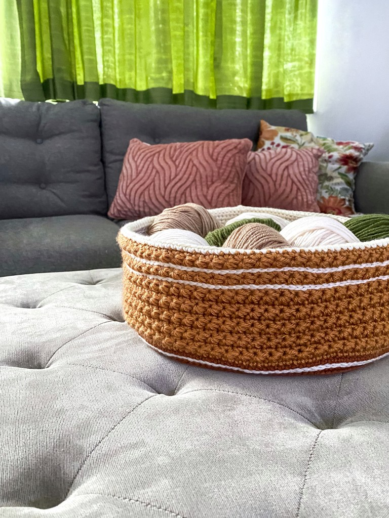 Star Stitch Crochet Basket