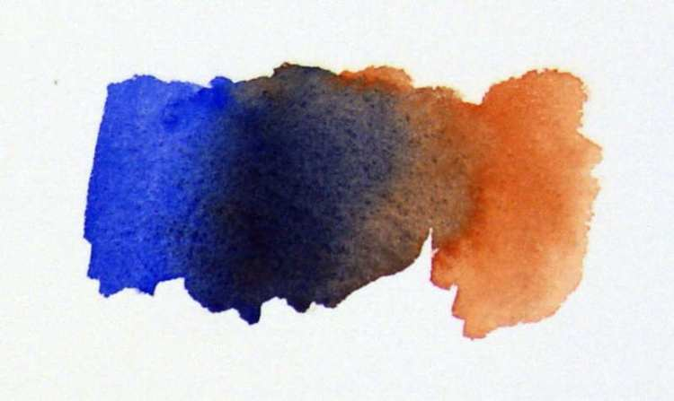 Colors that dance together, Ultramarine Blue and Burnt Sienna