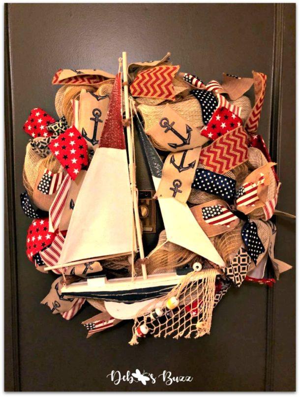 Sailboat wreath DIY