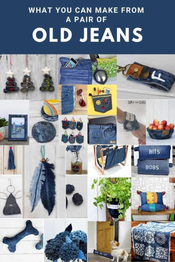 Recycling jeans to make great crafts, decor and more.