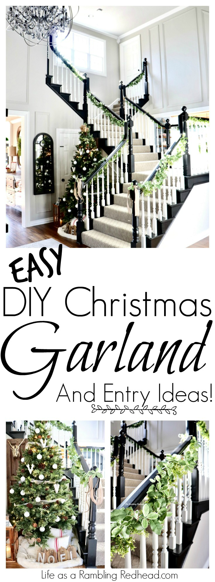 GORGEOUS DIY Christmas Garland and Entry decorating Ideas! So many Pictures! (Life as a Rambling Redhead)