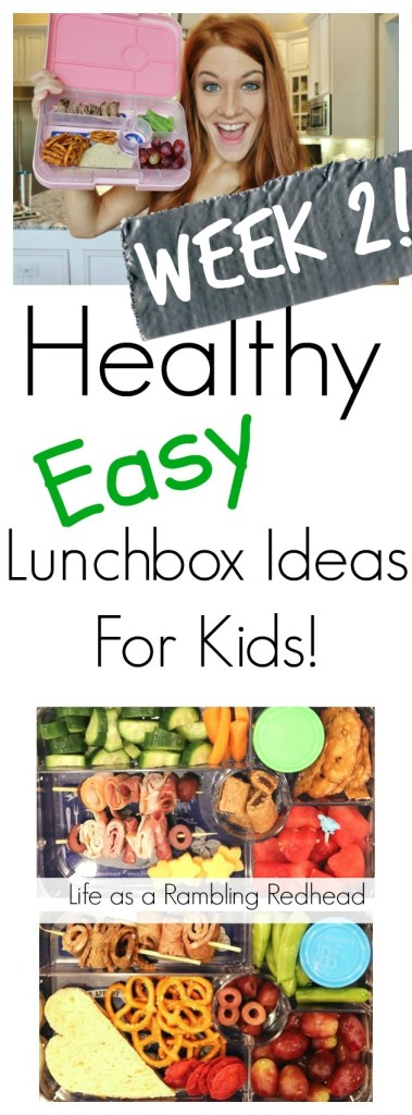 Healthy Easy Lunchbox Ideas For Kids! Week 2! (Life as a Rambling Redhead)