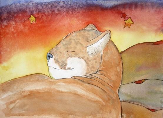 Dreamy Desert, Mountain Lion