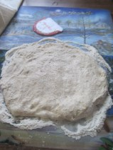 spread the dough. I saw this technique somewhere, which is supposed to re-distribute the dough ingredients and remove large air bubbles. It is becoming a routine application for me