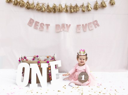 DIY birthdah shoot