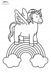 Unicorns Coloring Page