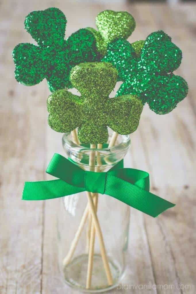 glittered-shamrocks-3