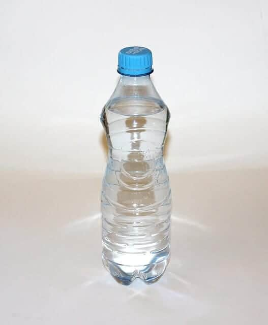 water bottle for pom pom activities