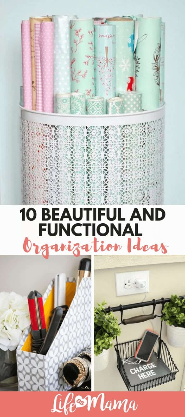 10 Beautiful And Functional Organization Ideas