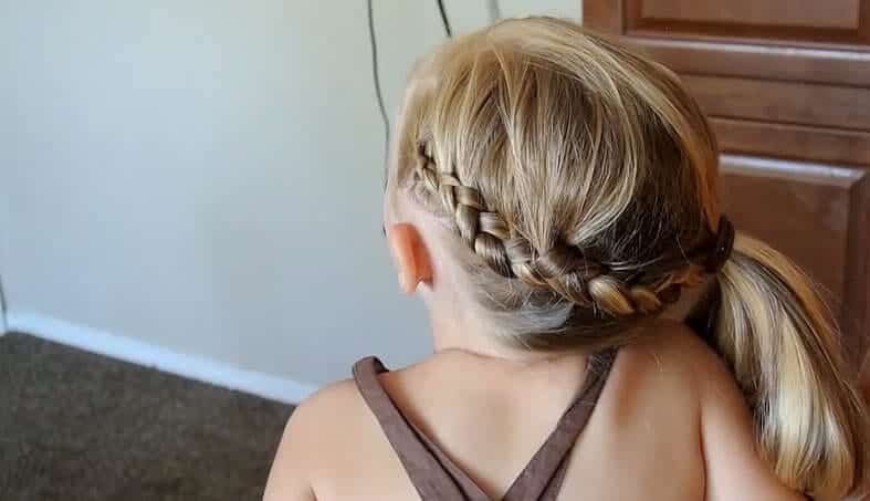Braided-Side-Ponytail, toddler girl hairstyles