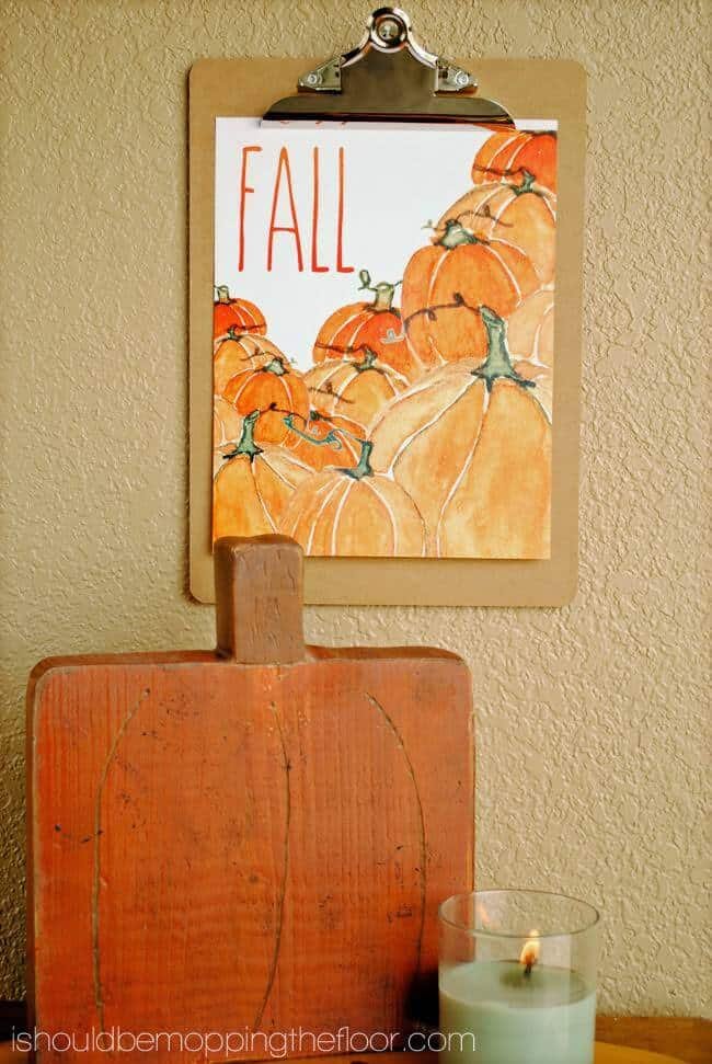 fall watercolor printable